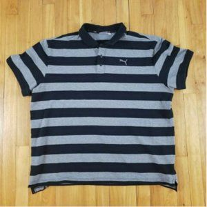 PUMA Golf Mens Striped Polo Shirt XXL